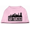 Mirage Pet Products San Francisco Skyline Screen Print Shirt Light Pink XS (8)