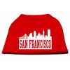 Mirage Pet Products San Francisco Skyline Screen Print Shirt Red XXL (18)