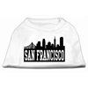 Mirage Pet Products San Francisco Skyline Screen Print Shirt White XXL (18)