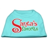 Mirage Pet Products Santas Favorite Screen Print Pet Shirt Aqua XXL (18)