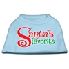 Mirage Pet Products Santas Favorite Screen Print Pet Shirt Baby Blue XS (8)