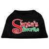Mirage Pet Products Santas Favorite Screen Print Pet Shirt Black XXL (18)