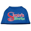 Mirage Pet Products Santas Favorite Screen Print Pet Shirt Blue XS (8)
