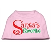 Mirage Pet Products Santas Favorite Screen Print Pet Shirt Light Pink XL (16)