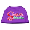 Mirage Pet Products Santas Favorite Screen Print Pet Shirt Purple Lg (14)