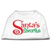 Mirage Pet Products Santas Favorite Screen Print Pet Shirt White XXL (18)