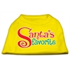 Mirage Pet Products Santas Favorite Screen Print Pet Shirt Yellow XS (8)