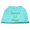 Mirage Pet Products Santa's Lil' Helper Screen Print Shirt  Aqua XL (16)