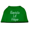 Mirage Pet Products Santa's Lil' Helper Screen Print Shirt Emerald Green XS (8)