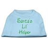 Mirage Pet Products Santa's Lil' Helper Screen Print Shirt  Baby Blue XL (16)