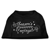 Mirage Pet Products Seasons Greetings Screen Print Shirt Black XXL (18)