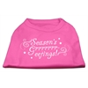 Mirage Pet Products Seasons Greetings Screen Print Shirt Bright Pink XXL (18)