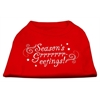 Mirage Pet Products Seasons Greetings Screen Print Shirt Red XXXL(20)