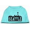 Mirage Pet Products Seattle Skyline Screen Print Shirt Aqua XXL (18)