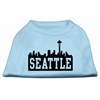 Mirage Pet Products Seattle Skyline Screen Print Shirt Baby Blue XL (16)