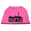 Mirage Pet Products Seattle Skyline Screen Print Shirt Bright Pink XL (16)