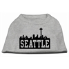 Mirage Pet Products Seattle Skyline Screen Print Shirt Grey XXL (18)