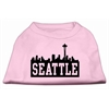 Mirage Pet Products Seattle Skyline Screen Print Shirt Light Pink XL (16)