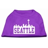 Mirage Pet Products Seattle Skyline Screen Print Shirt Purple XL (16)