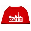 Mirage Pet Products Seattle Skyline Screen Print Shirt Red XS (8)