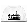Mirage Pet Products Seattle Skyline Screen Print Shirt White XXL (18)