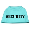 Mirage Pet Products Security Screen Print Shirts Aqua w/ black text Lg (14)