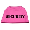 Mirage Pet Products Security Screen Print Shirts Bright Pink w/ black text Lg (14)