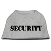 Mirage Pet Products Security Screen Print Shirts Grey w/ black text XS (8)