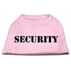 Mirage Pet Products Security Screen Print Shirts Light Pink w/ black text XS (8)