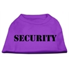 Mirage Pet Products Security Screen Print Shirts Purple w/ white text XS (8)