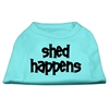 Mirage Pet Products Shed Happens Screen Print Shirt Aqua Sm (10)