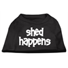 Mirage Pet Products Shed Happens Screen Print Shirt Black  XXL (18)