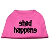 Mirage Pet Products Shed Happens Screen Print Shirt Bright Pink XXXL (20)