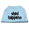 Mirage Pet Products Shed Happens Screen Print Shirt Baby Blue Lg (14)