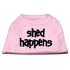 Mirage Pet Products Shed Happens Screen Print Shirt Light Pink XS (8)