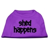 Mirage Pet Products Shed Happens Screen Print Shirt Purple Lg (14)