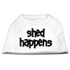 Mirage Pet Products Shed Happens Screen Print Shirt White Sm (10)