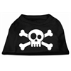 Mirage Pet Products Skull Crossbone Screen Print Shirt Black XS (8)
