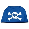 Mirage Pet Products Skull Crossbone Screen Print Shirt Blue XS (8)