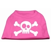 Mirage Pet Products Skull Crossbone Screen Print Shirt Bright Pink XS (8)