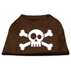 Mirage Pet Products Skull Crossbone Screen Print Shirt Brown Lg (14)