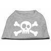 Mirage Pet Products Skull Crossbone Screen Print Shirt Grey Lg (14)