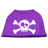 Mirage Pet Products Skull Crossbone Screen Print Shirt Purple XS (8)