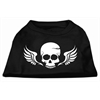 Mirage Pet Products Skull Wings Screen Print Shirt Black XXL (18)
