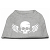 Mirage Pet Products Skull Wings Screen Print Shirt Grey Lg (14)