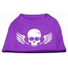 Mirage Pet Products Skull Wings Screen Print Shirt Purple XXXL (20)