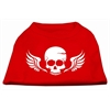 Mirage Pet Products Skull Wings Screen Print Shirt Red XS (8)