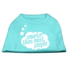 Mirage Pet Products Smarter then Most People Screen Printed Dog Shirt   Aqua XXL (18)