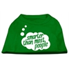 Mirage Pet Products Smarter then Most People Screen Printed Dog Shirt Emerald Green Med (12)