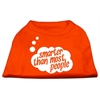 Mirage Pet Products Smarter then Most People Screen Printed Dog Shirt Orange XXL (18)
